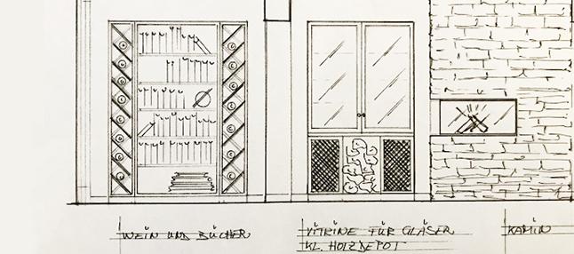 innenarchitektur-ansichtsskizze